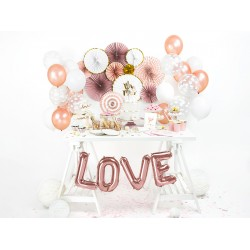 Folieballon Love Rosé Goud