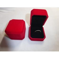 Ringendoosje kubus luxe 1 ring rood zwart