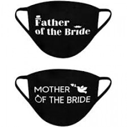 Mondmasker set Father Mother of the Bride