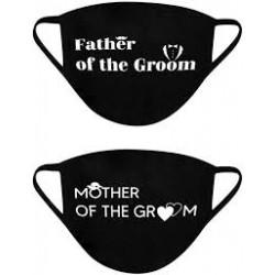 Mondmasker set Father en Mother of the Groom