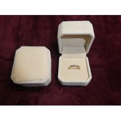 Ringendoosje kubus luxe 1 ring naturel