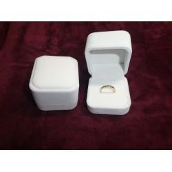 Ringendoosje kubus luxe 1 ring wit