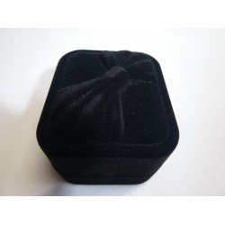Ringendoosje zwart fluweel 3d strik