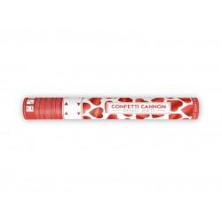 Confetti kanon rode hartjes 40 cm