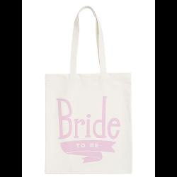 Linnen Tas Bride To Be lichtroze
