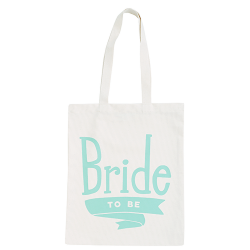 Linnen Tas Bride To Be Mint