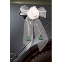 Autodecoratie wit met groen