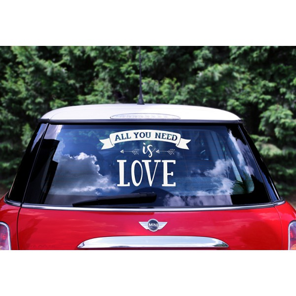 Auto Sticker  All You Need Is Love