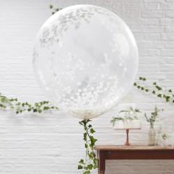 Giant Confetti gevulde ballonnen  3 stuks