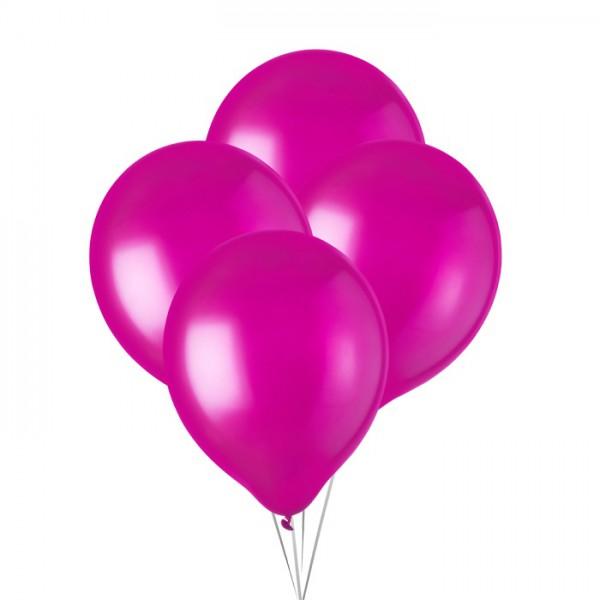 Ballonnen metallic fuchsia  30 cm