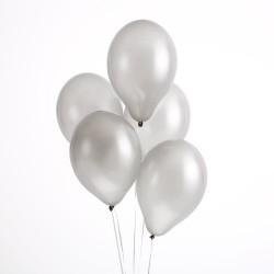 Ballonnen metallic zilver  30 cm
