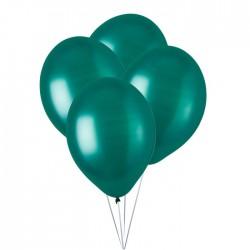 Ballonnen metallic groen  30 cm