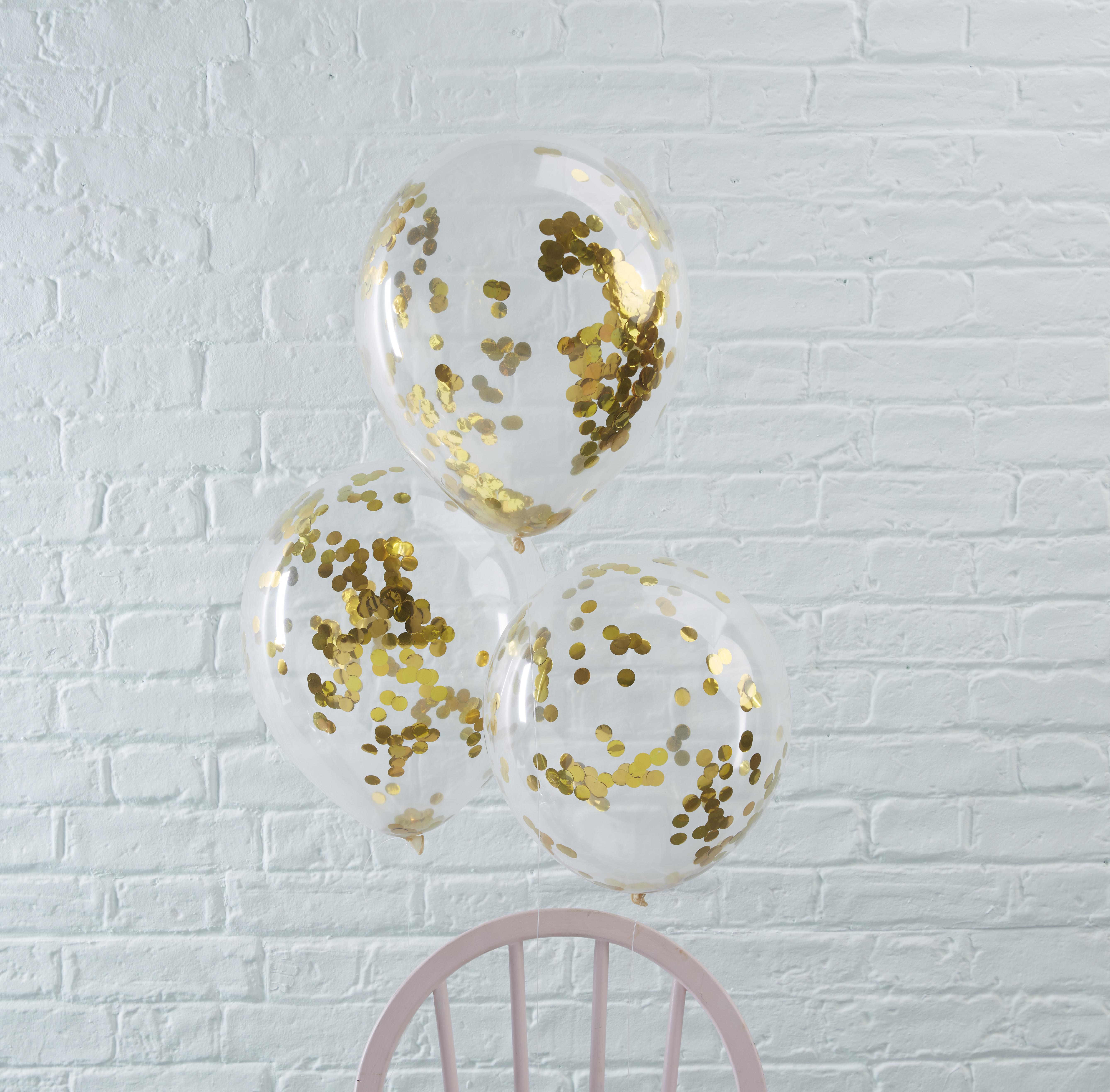 Ballonnen sterren confetti