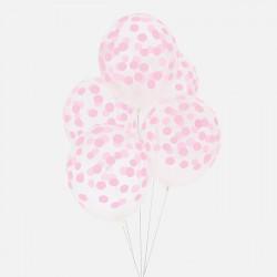Ballonnen Confetti Light Pink  5 stuks