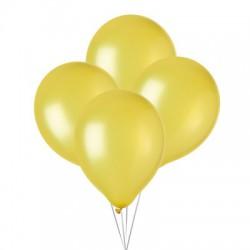 Ballonnen metallic citroen geel  30 cm