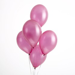 30 cm Ballonnen metallic lichtroze