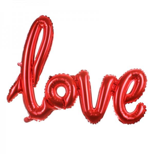Folieballon Love rood