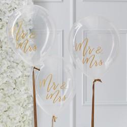 Ballonnen Mr en Mrs  Gold Wedding