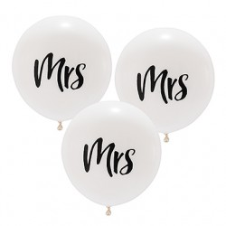 Grote ballonnen Mrs  3 stuks