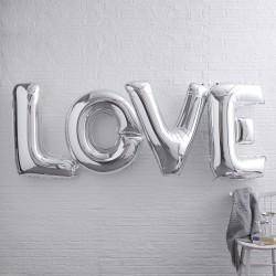 Giga Love folie ballonnen zilver