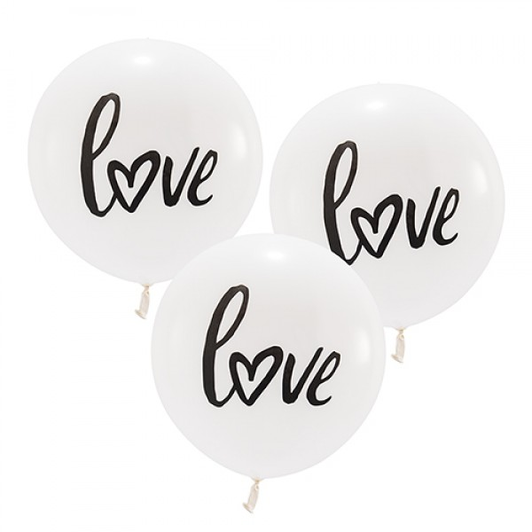Grote ballonnen LOVE  3 stuks