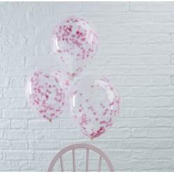 Ballonnen confetti roze