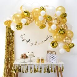 Ballonnenboog Goud  DIY