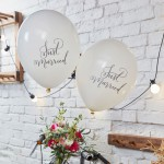 Ballonnen wit Just Married  10 stuks