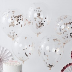 Ballonnen Confetti Rosé Goud