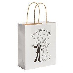 Geschenktasjes Welcome To Our Wedding  6 stuks
