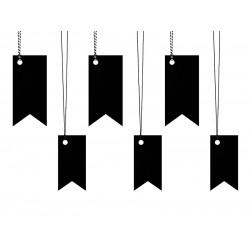Labels zwart 6 stuks