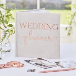Wedding Planner - Grijs Suede Bronze Foiled