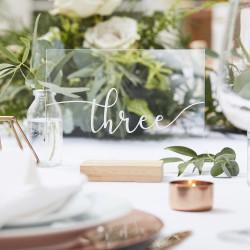 Table Nummers 1- 12 - Hout en Acryl