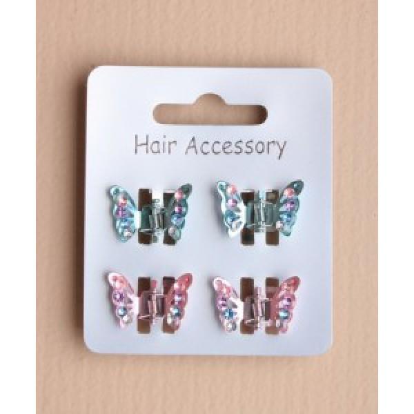 Haarklemmetjes vlinders pastel