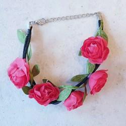 Bloemenarmband Rood