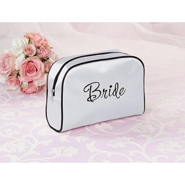 Bruidstasje wit/zwart