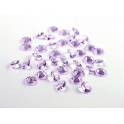 Diamant confetti lichtpaars  12 mm