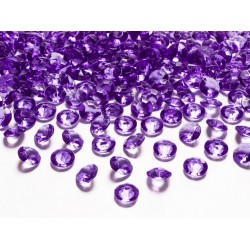Diamant confetti paars  12 mm