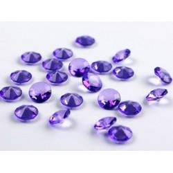 Diamant confetti blauw-paars  12 mm