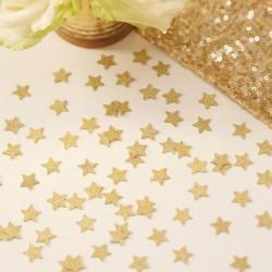 Glitter confetti goud sterretjes