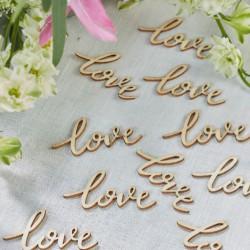 LOVE houten confetti