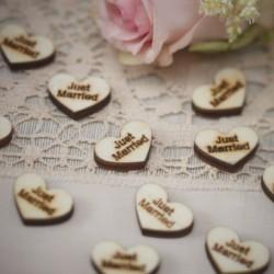 Houten confetti Just Married