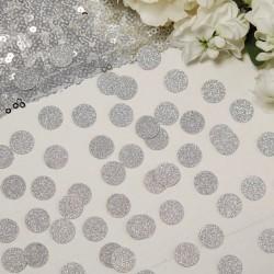 Glitter confetti zilver cirkels