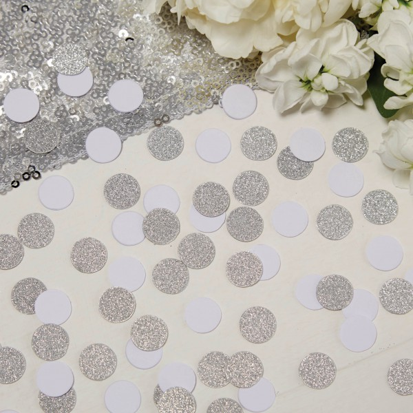 847a12c71ac Glitter confetti zilver en wit cirkels - MPGR415