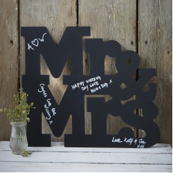 Krijtbord letters Mr & Mrs