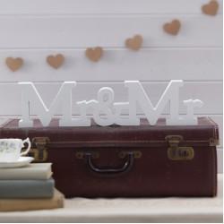 Houten letters Mr & Mr
