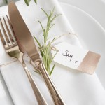 Labels Rose Gold  10 stuks