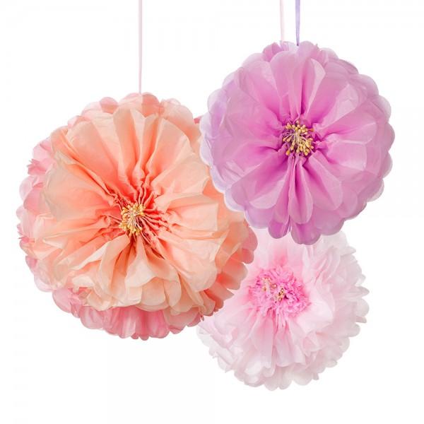 Flower Pom poms mix Blush