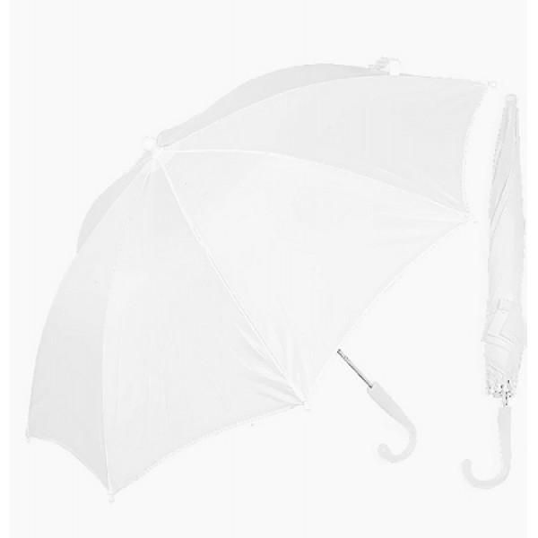 Kleine witte paraplu