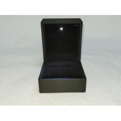 Ringdoosje vierkant zwart met licht